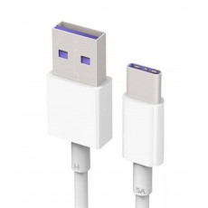 Data Cable Huawei AP71 USB Type-A to Type-C 5A White 1m