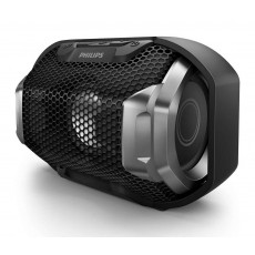 Wireless Portable Speaker Philips ShoqBox SB300B/00 4W Waterproof Black with Speakerphone and 3.5mm Audio-in Connector