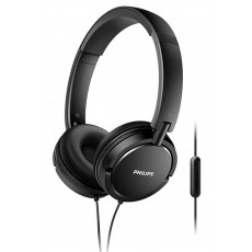 Philips Stereo Headphone On-Ear SHL5005/00 3.5 mm Black with Microphone for Mobile Phones, mp3, mp4 and sound devices