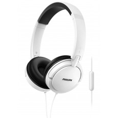 Philips Stereo Headphone On-Ear SHL5005/00 3.5 mm White with Microphone for Mobile Phones, mp3, mp4 and sound devices