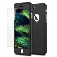360 Protect Case Ancus for Apple iPhone 8 Plus Black with Tempered Glass Screen Protector 0.20mm