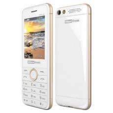 Maxcom MM136 (Dual Sim) with Camera, Torch and FM Radio White - Sampagne