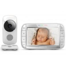 "Baby Monitor Motorola MBP48 with 5.0"" Diagonal Colour Screen, Night Vision and Up to 300m Range"
