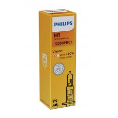 Headlight Bulb Philips H1 Vision 12V, 55W, P14,5s, +30% More Vision