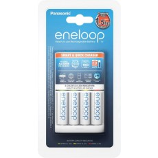 Battery Charger Panasonic Eneloop BQ-CC55E Smart & Quick for AA/AAA with 4 AA batteries