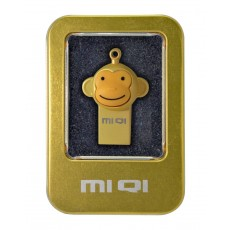 USB 2.0 MIQI Flash Drive M1 16GB Gold Metal