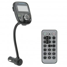Bluetooth FM Transmitter 620C with Remote Control, Speakerphone, Audio-In and USB Port 5V/1A Black