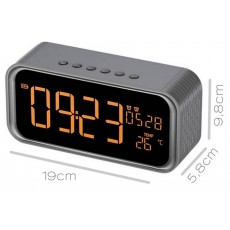 Wireless Portable Speaker Musky DY33 2x6W with Alarm Clock, FM Radio, Temperature Display, Speakerphone and USB Slot