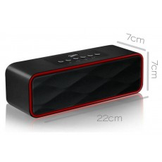 Wireless Portable Speaker Musky DY22 2x5W Black with FM Radio, Speakerphone, Audio-In and USB Port