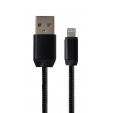 Data Cord Cable Glam USB to Lightning Black 30cm