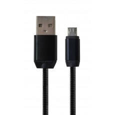 Data Cord Cable Glam USB to Micro USB Black 30cm