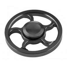 Fidget Spinner Aluminum Wind Wheel Alloy Black 3 min