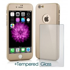 360 Protect Case Ancus for Apple iPhone 8 Gold with Tempered Glass 0.20mm