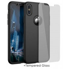 360 Protect Case Ancus for Apple iPhone X / XS Black with Tempered Glass 0.20mm