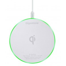 Wireless Charger Pad Gigastone GA-9600W Fast Charge 9V for Apple/Android Devices White (for Devices with Qi-Enabled)