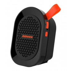 Outdoor Proof Wireless Speaker Bluetooth Jabees beatBOX Mini 3W IPX4 Black - Orange with Speakerphone and Audio-in