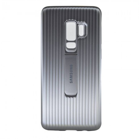 Case Faceplate Samsung Protective Standing Cover EF-RG965CSEGWW for SM-G965 Galaxy S9+ Silver