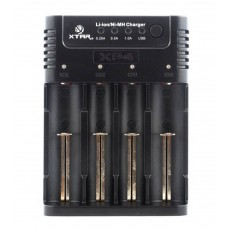 Industrial Type Battery Charger Xtar Panzer XP4 , 4 Positions with Power Display for 18650/17670/17500