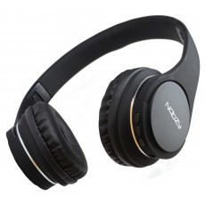 Bluetooth Stereo Headphone Noozy BT-13 with Built-In Mic and 3.5mm Cable Black with Great Battery Autonomy