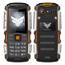 "FlameFox Stone (Dual Sim) 2"" IP67 with Bluetooth, Led Torch, Battery Li-Ion 2570mAh"