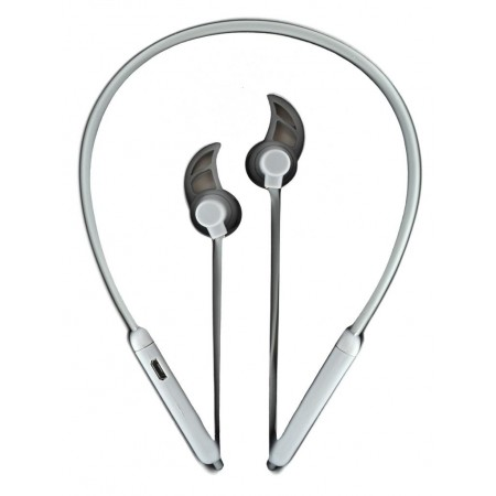 Bluetooth Hands Free Komc B603 Neck Band Magnetic Earbuds with Flat Cable Rubber Grey