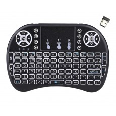 Bluetooth Keyboard Mini Rii i8+ for Smartphone, Tablet, PC, και SmartTV Black