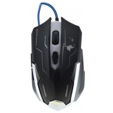 Wired Gaming Mouse Keywin 3 Buttons 1600 DPI Black - White
