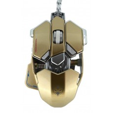 Wired Mechanical Gaming Mouse Luom G10 Led 10 Buttons 4000 DPI Gold