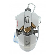 Wired Mechanical Gaming Mouse Luom G10 Led 10 Buttons 4000 DPI White