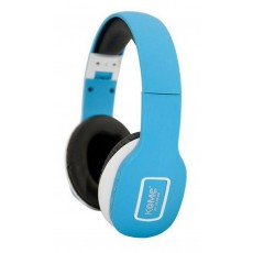 Bluetooth Headphones Stereo Foldable Komc KM-6300 Light Blue with Mic and Audio In