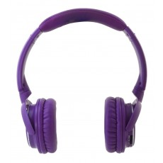 Bluetooth Headphone Stereo NIA-Q1 Purple with Microphone, FM Radio, Audio In and MP3 Player with Micro SD