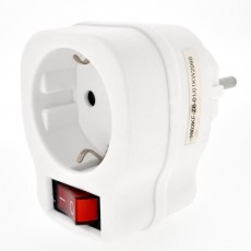 Power Socket Outlet Kinzo with On/Off Switch White