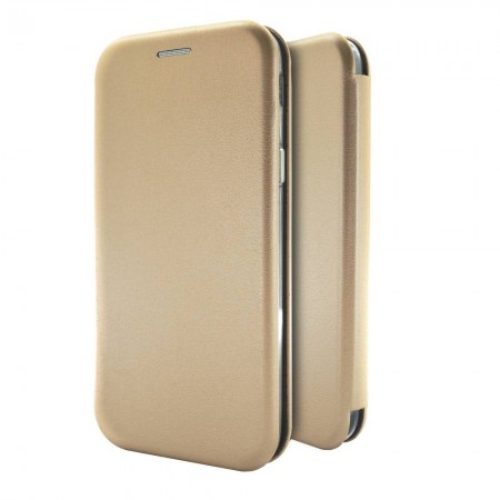 Book Case Ancus Magnetic Curve for Huawei Y5 (2018) TPU Gold