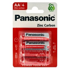 Battery Zinc Carbon Panasonic LR6 size AA 1.5 V Pcs, 4