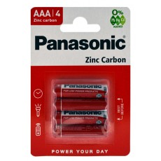 Battery Zinc Carbon Panasonic R03 size AAA 1.5V Pcs, 4