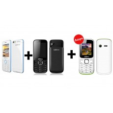Maxcom MM136 White - Blue + Refurbished Maxcom MM237 and get a Free Maxcom MM129 White - Green