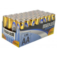 Battery Alkaline Maxell LR6 size AA 1.5 V Psc. 32