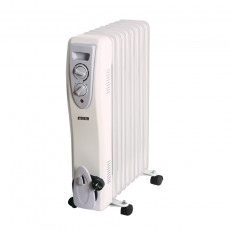 Oil Heater N'OVEEN OH9 2000W with Automatic Thermostat. White