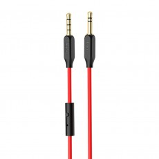 Audio Cable Hoco UPA12 3.5mm Male to 3.5mm Male with Microfone and Buttons for Audio-in, and Mobile Phones 1 m. Black