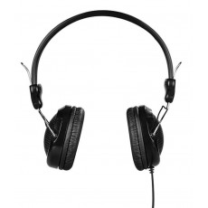 Headphone Stereo Hoco W5 Black with 3.5mm jack and in-line microphone