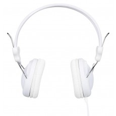 Headphone Stereo Hoco W5 White with 3.5mm jack and in-line microphone