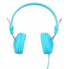 Headphone Stereo Hoco W5 Blue with 3.5mm jack and in-line microphone