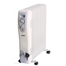 Oil Heater N'OVEEN OH11 2500W with Automatic Thermostat. White