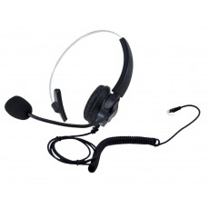 Wired Headset Noozy Black-Silver RJ9 with Microphone for DECT Telephones