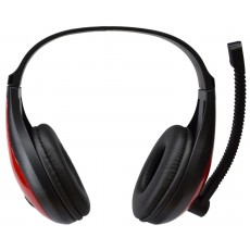 Headphone Stereo KOMC USB Headphones B19 with Microphone and Buttons. USB Connection. Black