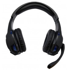 Headphone Stereo KOMC USB Headphones G301 with Microphone and Buttons. USB Connection. Black