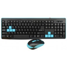 Wireless Keyboard Mobilis GK400 with Wireless Mouse of 4 Buttons Black