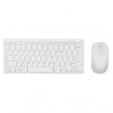 Wireless Mini Keyboard Mobilis with Wireless Mouse of 3 Buttons White