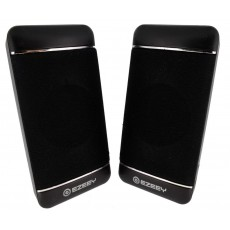 Multimedia Speaker Stereo Ezeey S4 with 3.5mm jack and USB Charge, 2.5W x 2, 4Ω 3W, Black