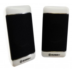 Multimedia Speaker Stereo Ezeey S4 with 3.5mm jack and USB Charge, 2.5W x 2, 4Ω 3W, White